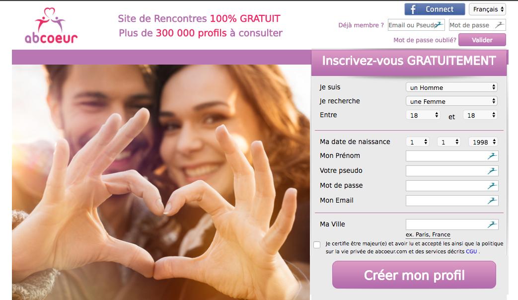 ABCoeur – un site de rencontre gratuit mais aux profils bas de gamme